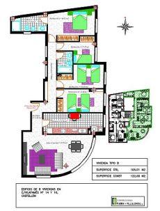 Piso a estrenar 4 habitaciones zona Corte Ingl�s Castell�n