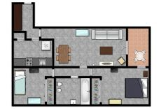 Atico de dos dormitorios, con terraza de 8 m2 ,