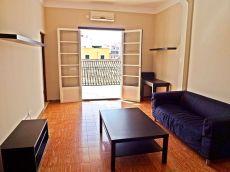 Piso con terraza reformado y 2 habitaciones
