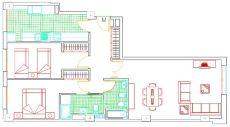 Vivienda de 2 habitaciones frente a p. Cabecera