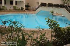 Estupendo piso de 2 hab con jard�n y piscina