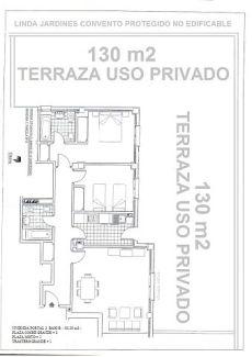 Piso 215 m2. Con terraza 130 m3, 3 plazas garaje, amueblado