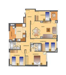 Piso de 4 dormitorios en Residencial Riviera. El Romeral.