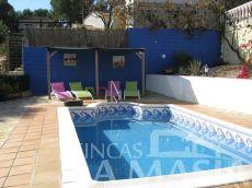 Chalet independiente muy soleada con piscina